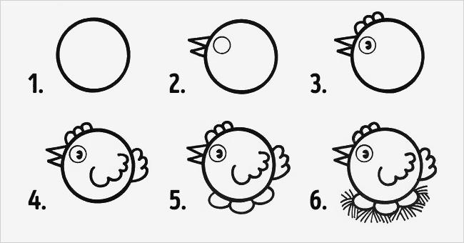 Dạy bé vẽ con vật với hình tròn