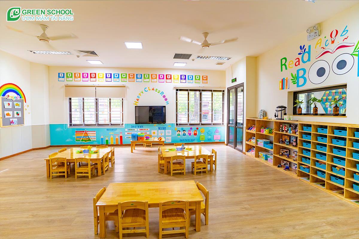 Hình ảnh lớp học cho bé tại Green School
