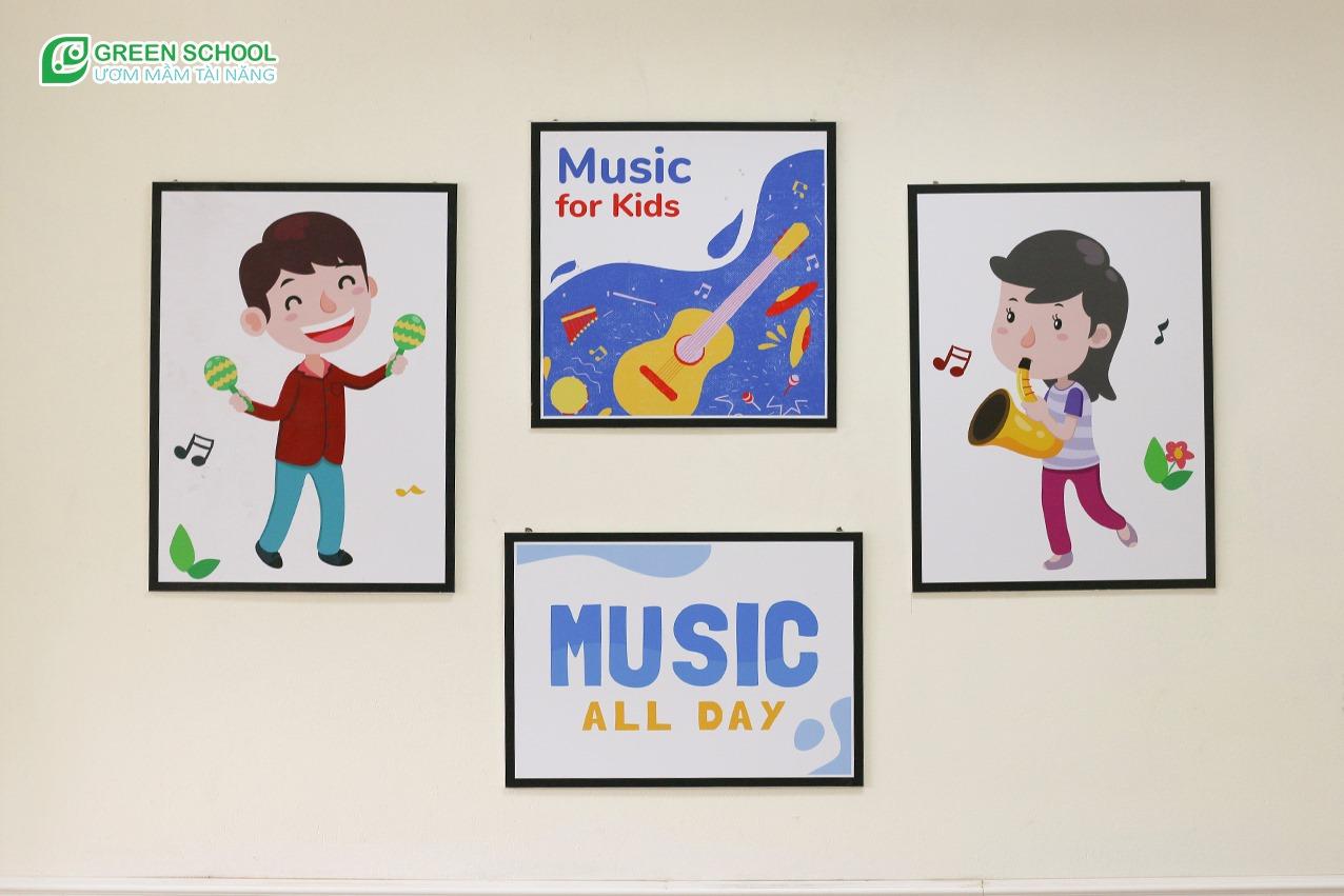 Không gian phòng học âm nhạc